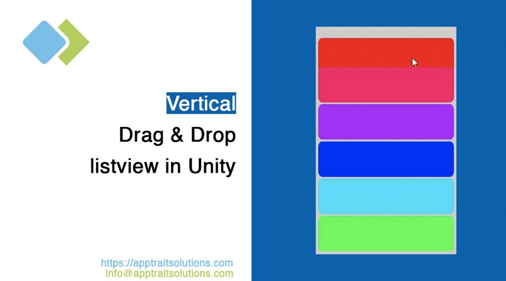How to implement vertical drag & drop listview in Unity
